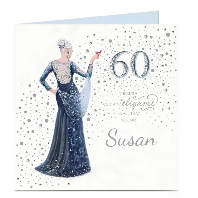 Personalised 60th Birthday Card - A Certain Elegance