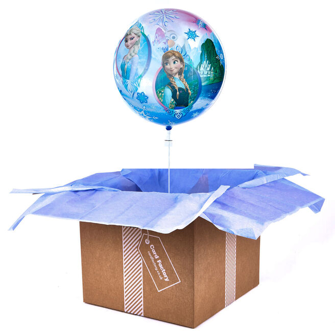 22 Inch Bubble Balloon - Disney's Frozen - DELIVERED INFLATED!