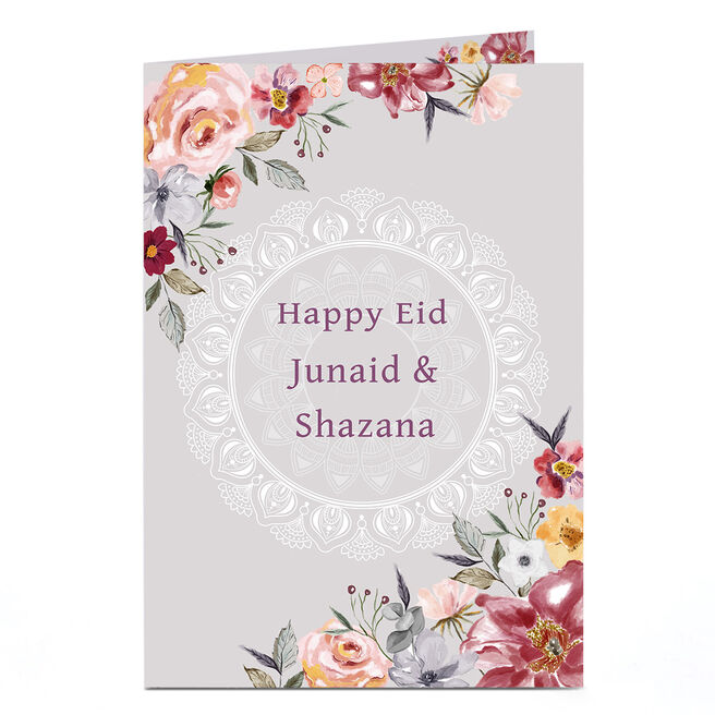 Personalised Eid Card - To Both, Floral