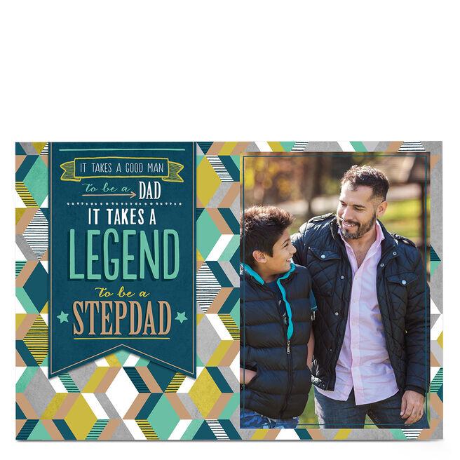 Photo Father's Day Card - Legend Stepdad