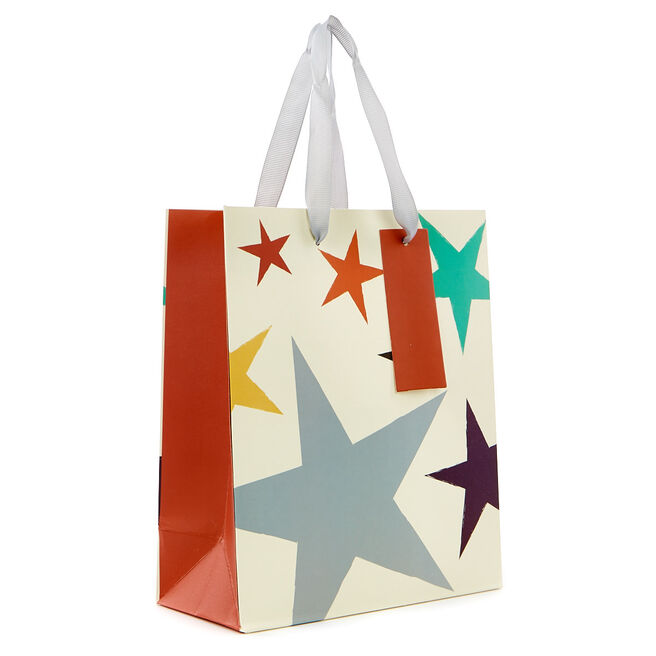Small Portrait Gift Bag - Coloured Stars