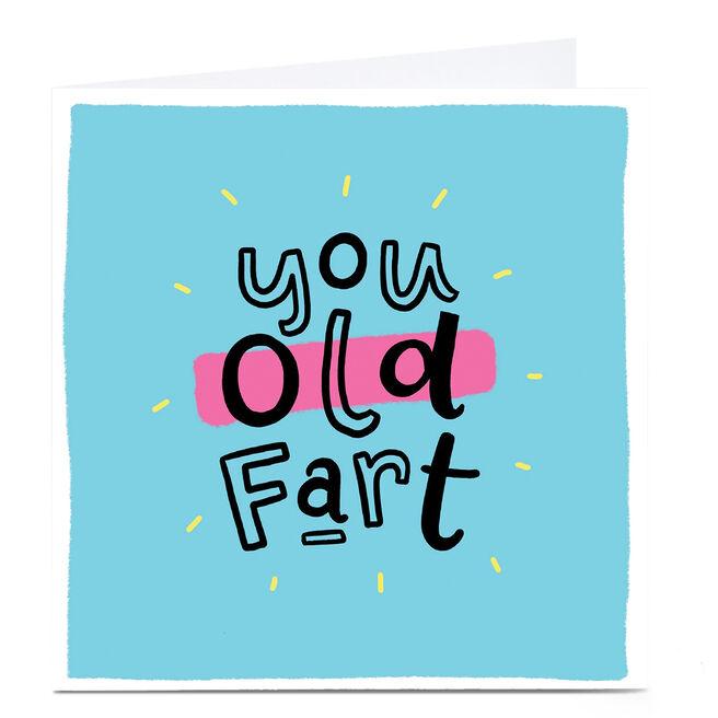 Personalised Blue Kiwi Birthday Card - You Old Fart