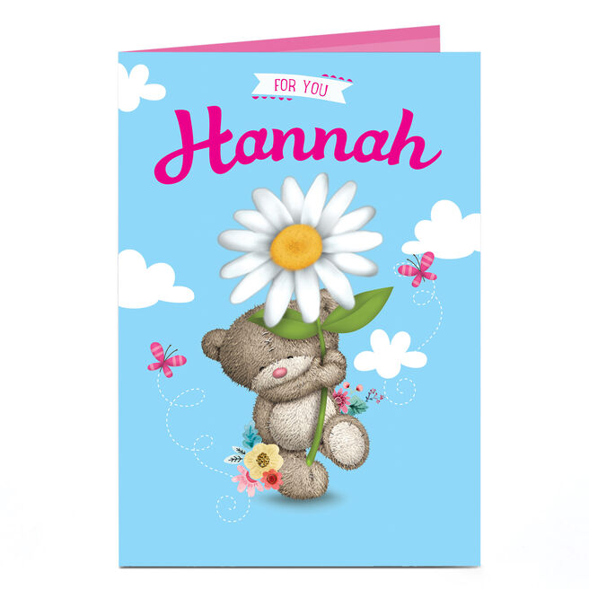 Personalised Hugs Bear Card - For You, Giant Daisy