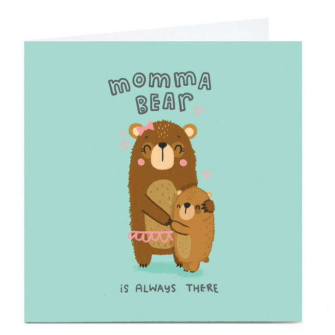 Personalised Blue Kiwi Mother's Day Card - Momma Bear