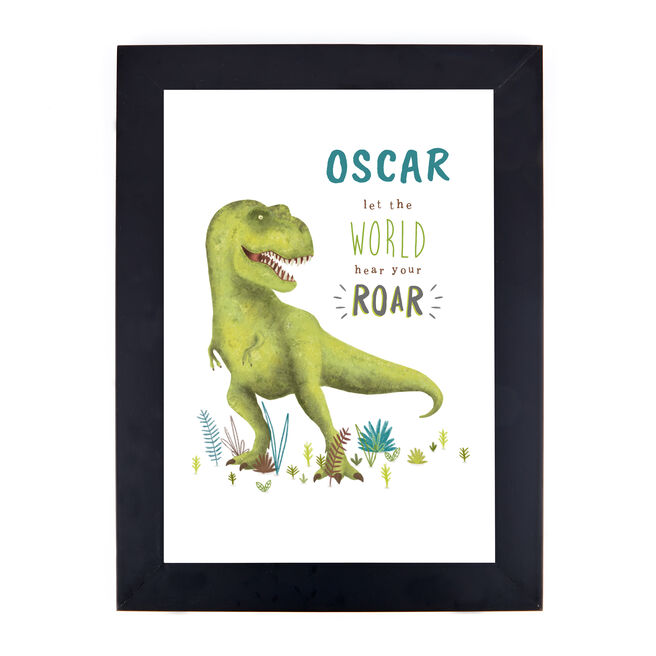 Personalised Dinosaur Print - Let The World Hear Your Roar