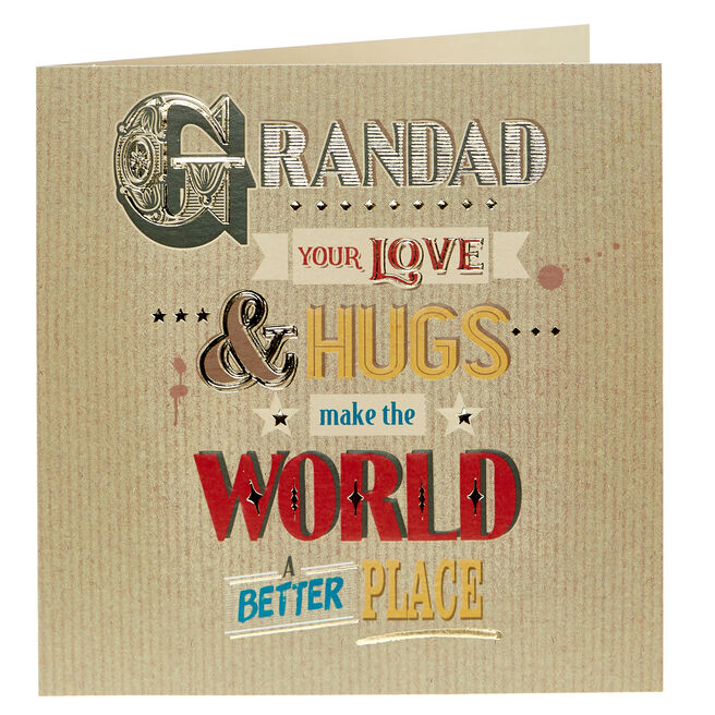 Birthday Card - Grandad Love & Hugs