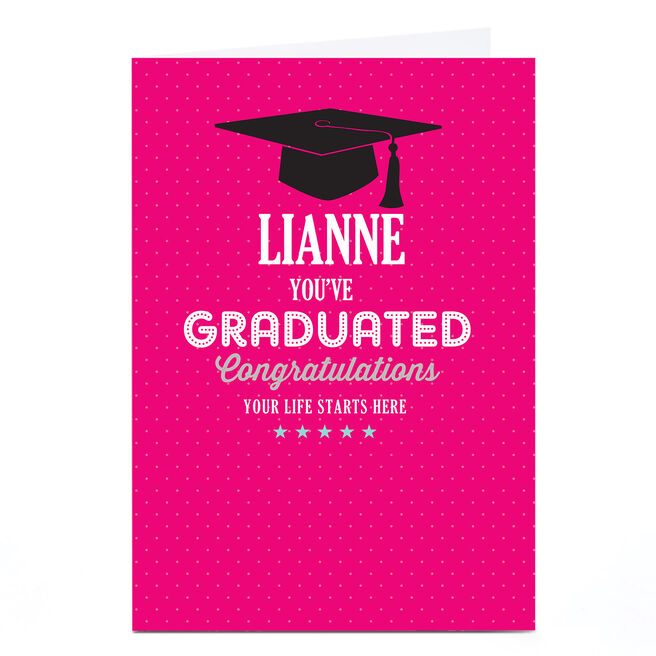 Personalised Graduation Card - Life Starts Here