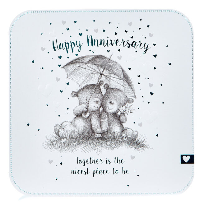Platinum Collection Anniversary Card - Together Is The Nicest Place...