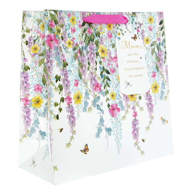 Medium Square Mum Floral Gift Bag