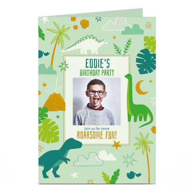 Personalised Birthday Card - Roarsome Dino