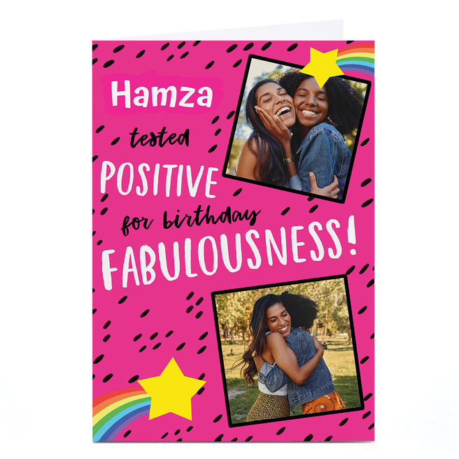 Photo Lockdown Birthday Card - Fabulousness