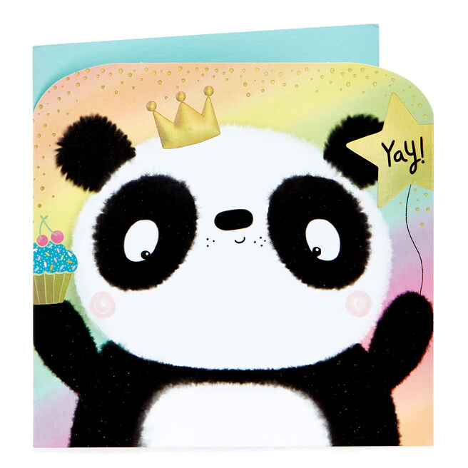 Birthday Card - Panda, Yay!