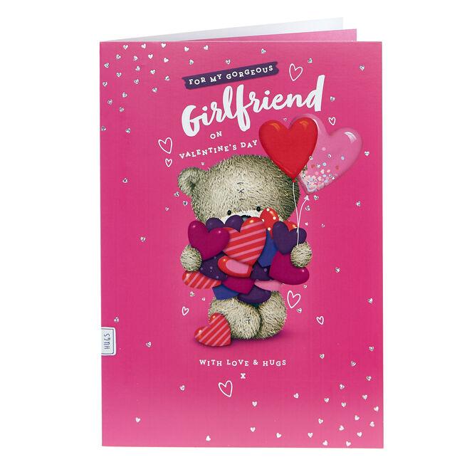 Hugs Bear Valentine's Day Card - Gorgeous Girlfriend