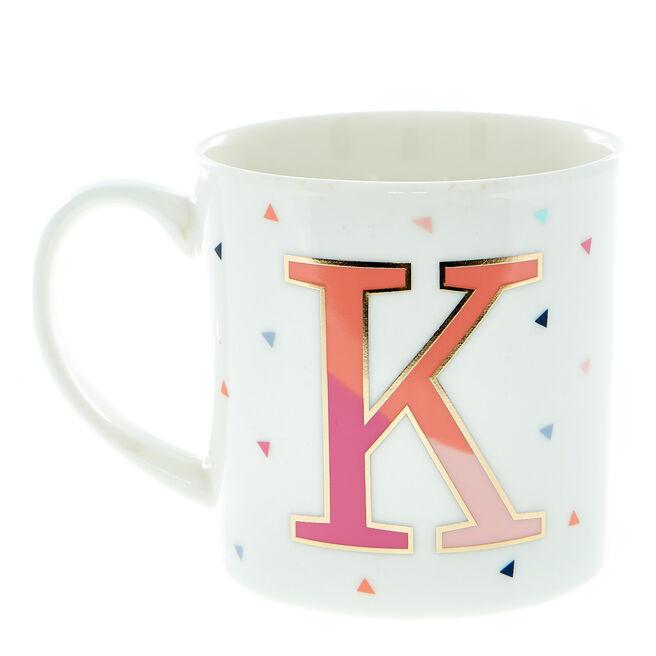 Letter K Alphabet Mug