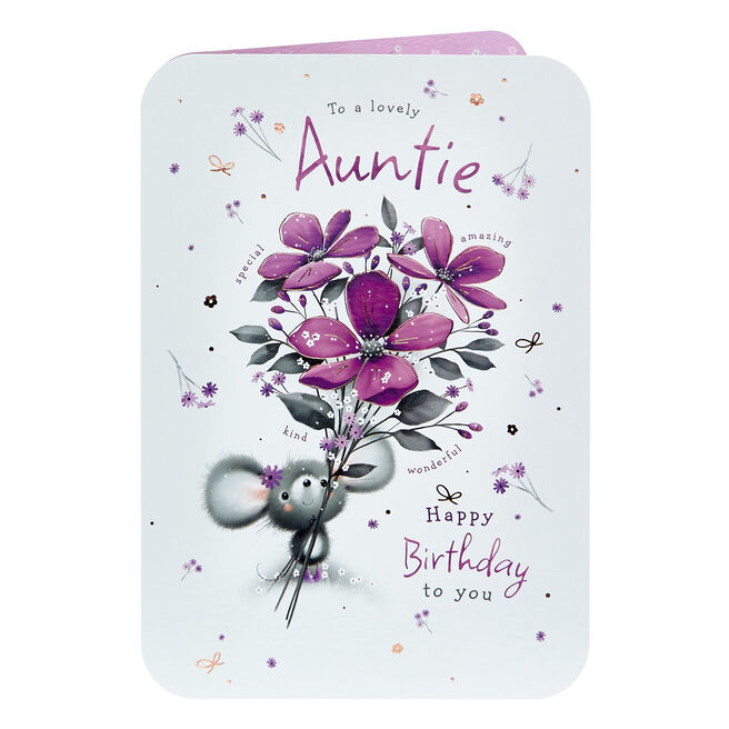 Birthday Card - Lovely Auntie