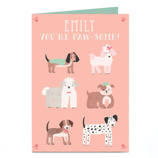 Personalised Card - Paw-some Dogs