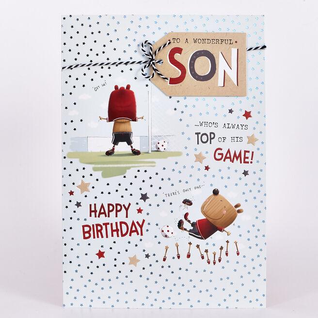 Signature Collection Birthday Card - Son Football Bear