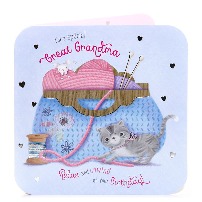 Birthday Card - For A Special Great Grandma