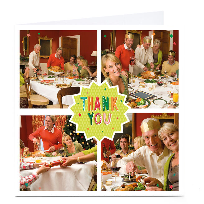 Photo Thank You Card - 4 Photos Square