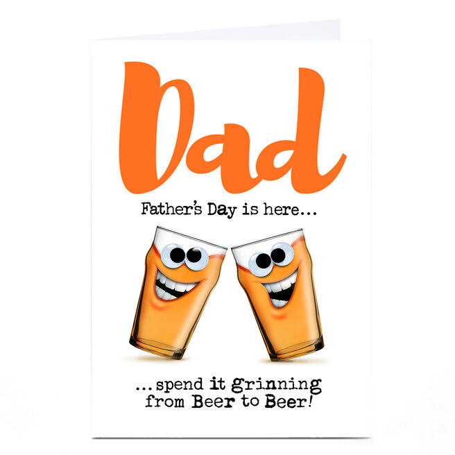 Personalised PQ Quips Father's Day Card - From Beer To Beer