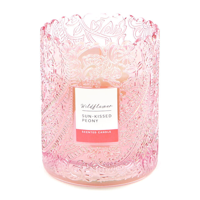 Wildflower Pink Peony Scented Candle
