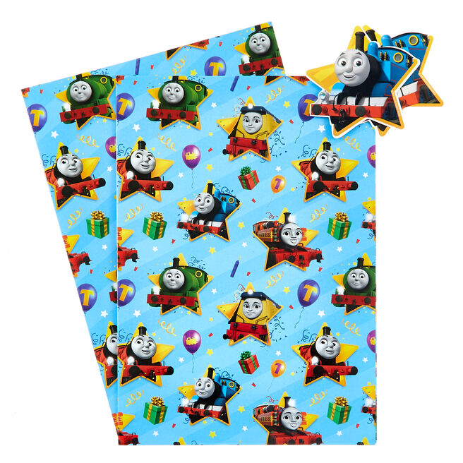 Thomas & Friends Wrapping Paper & Gift Tags - Pack of 2