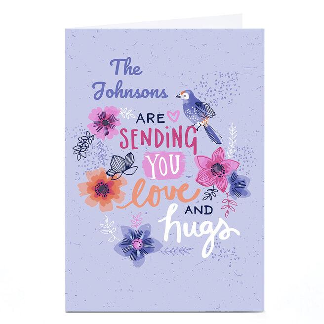 Personalised Bev Hopwood Card - Sending You Love and Hugs