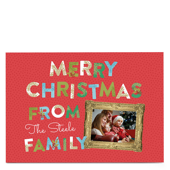 Photo Christmas Card - Family Frame