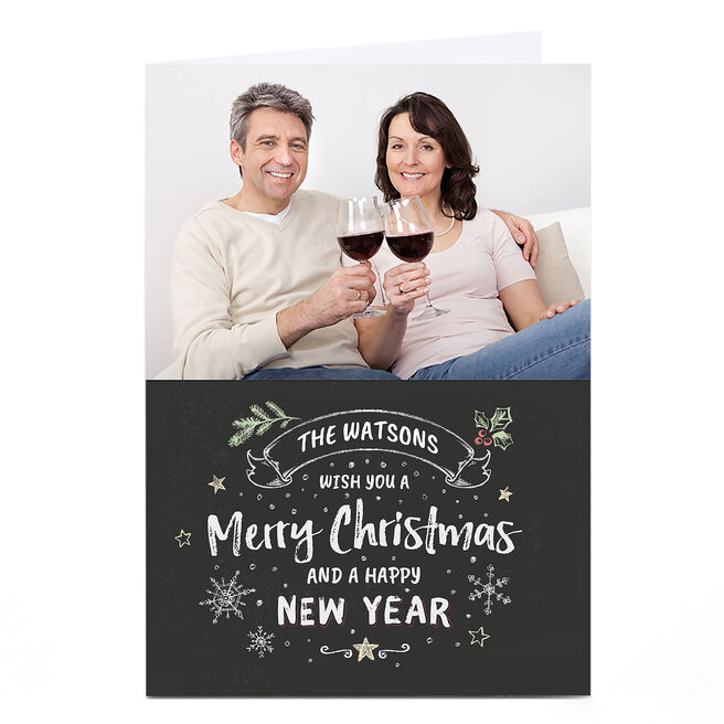 Photo Christmas Card - Merry Christmas From Our Family