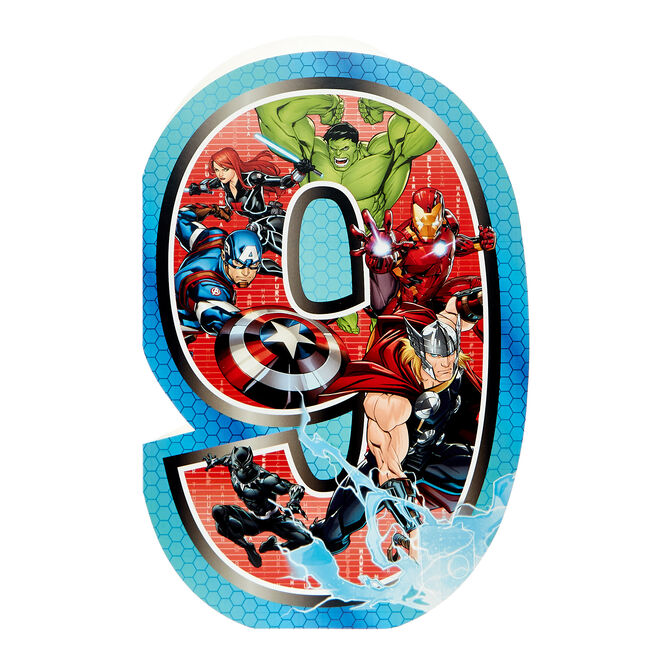 Marvel Avengers 9th Birthday Card