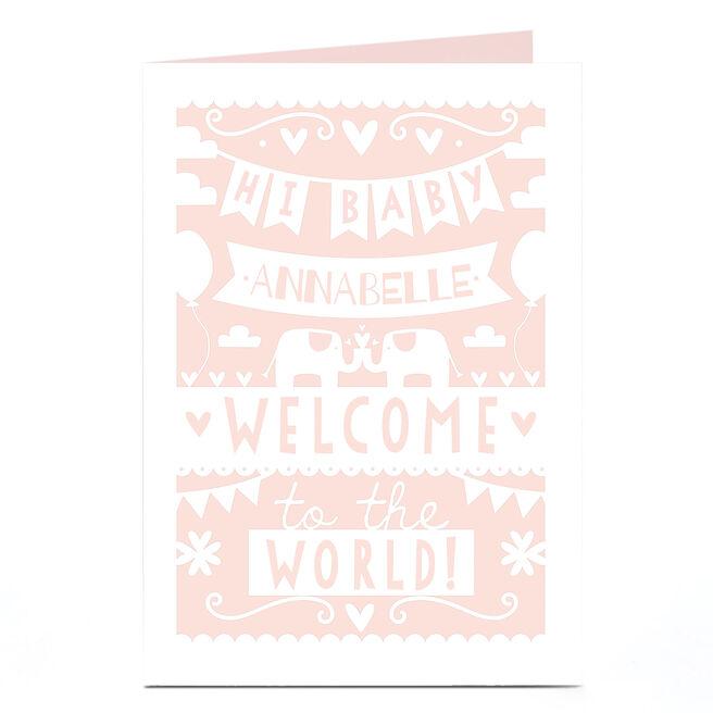 Personalised New Baby Card - Hi Baby Bunting