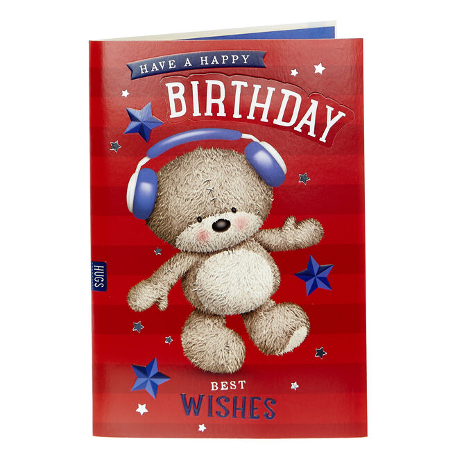 Hugs Bear Birthday Card - Best Wishes