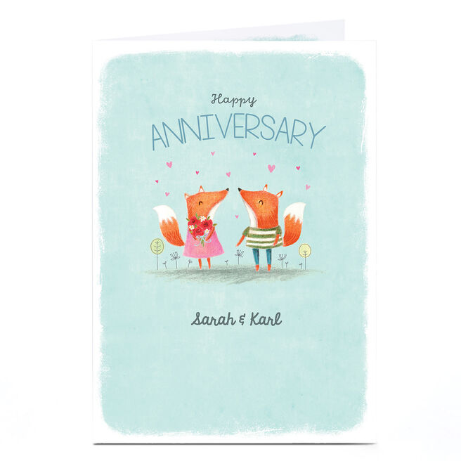 Personalised Card - Fox Couple