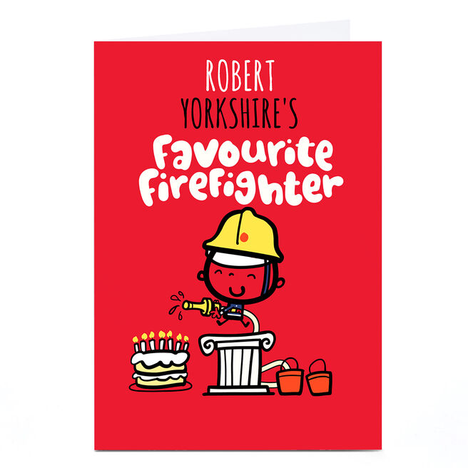 Personalised Fruitloops Card - Favourite Firefighter