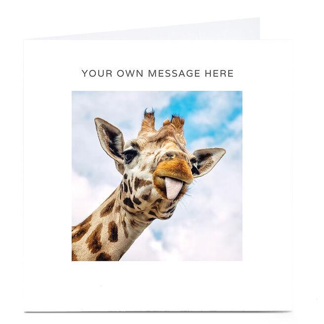 Personalised Card - Giraffe Tongue