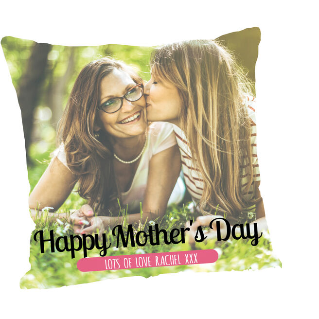 Personalised Mother's Day Photo Cushion - Photo & Messages