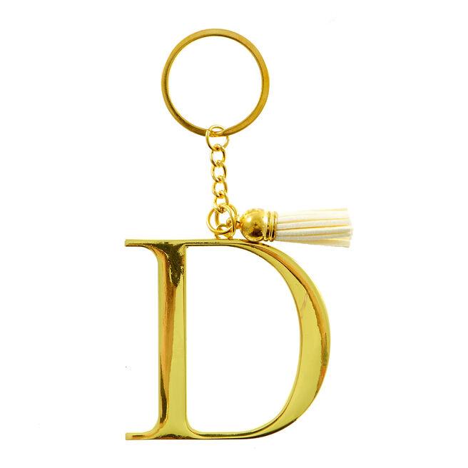 Letter D Key Ring