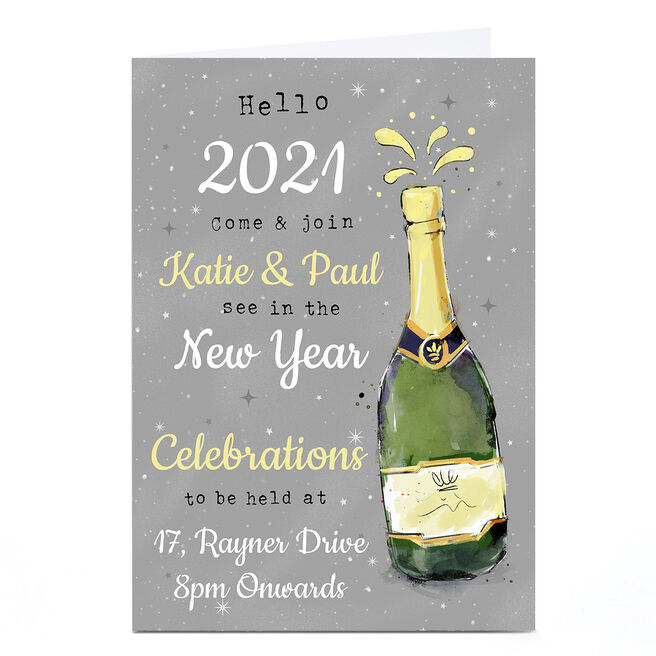 Personalised Christmas Card - New Year Celebrations