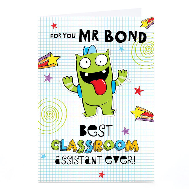 Personalised Teacher Card - Classroom Assistant