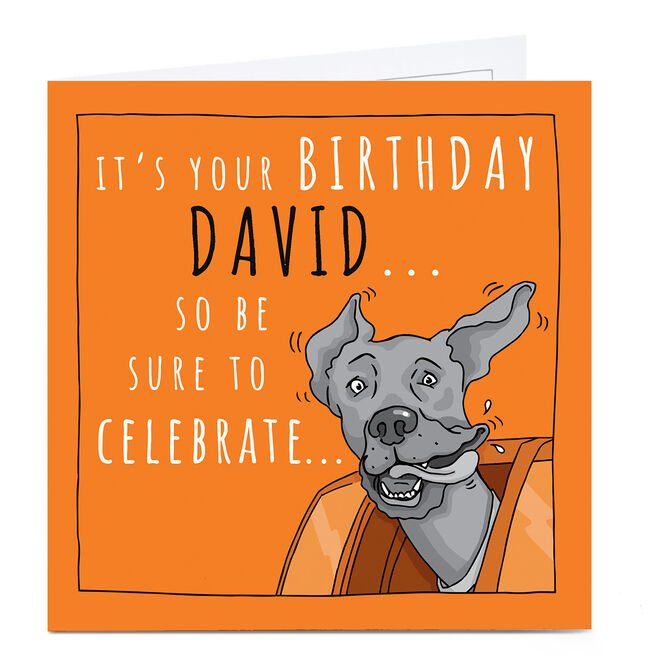 Personalised Totally Pawsome Birthday Card - Be Sure To Celebrate...
