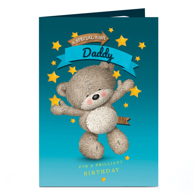 Personalised Hugs Birthday Card - A Special Wish