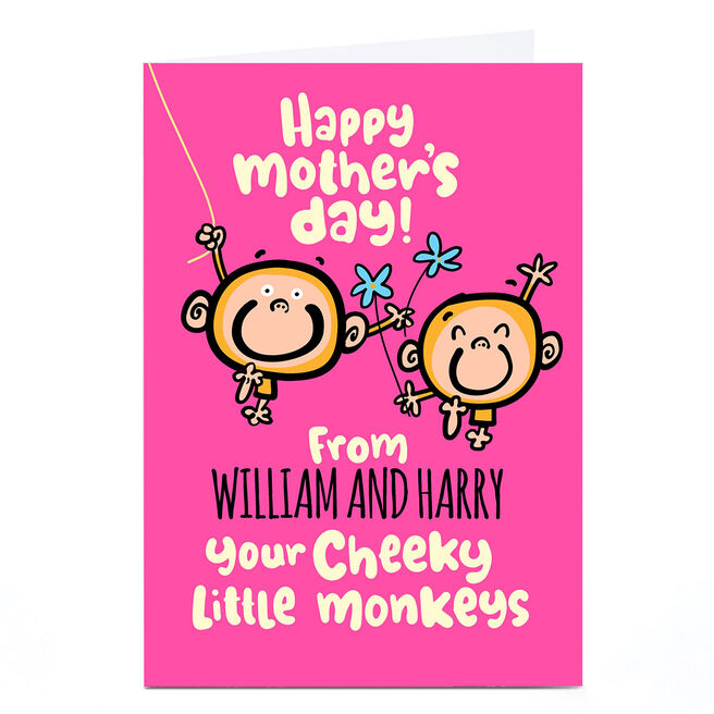 Personalised Fruitloops Mother's Day card - Cheeky Little Monkeys