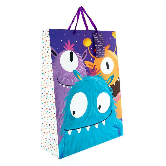 Large Portrait Gift Bag - Monsters