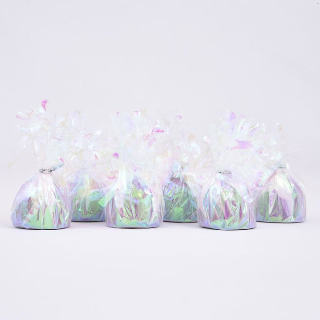 Iridescent Foil Balloon Weights - Pack of 12