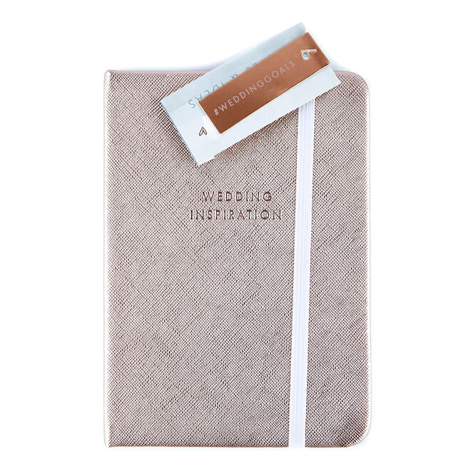 Rose Gold A6 Wedding Inspiration Notebook