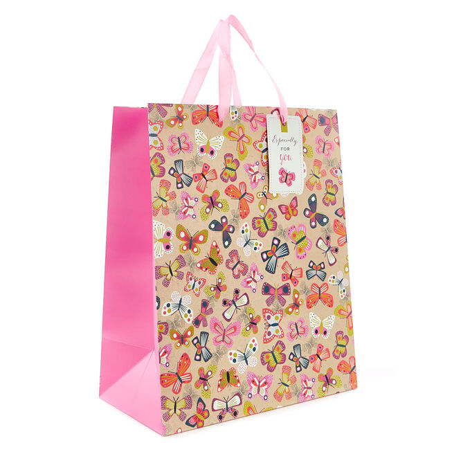 Medium Multicoloured Craft Butterfly Gift Bag