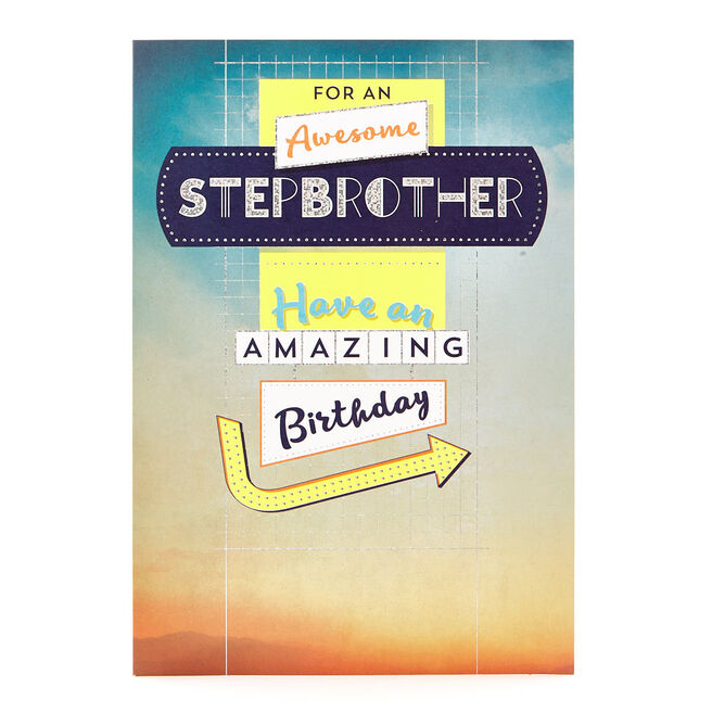 Special Collection Birthday Card - Awesome Stepbrother
