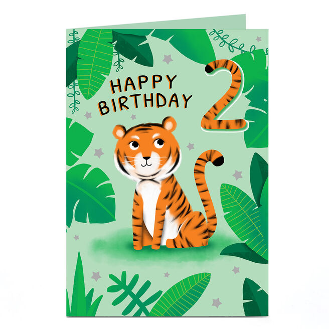 Personalised Any Age Card - Tiger Birthday