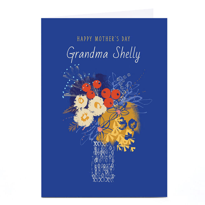Personalised Rebecca Prinn Mother's Day Card - Flowers in Vase