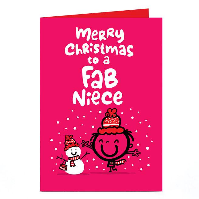 Personalised Fruitloops Christmas Card - Fab Niece